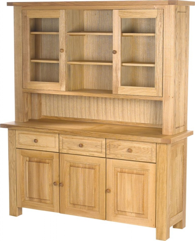 Charltons Bretagne Oak 3 Door 3 Drawer Sideboard
