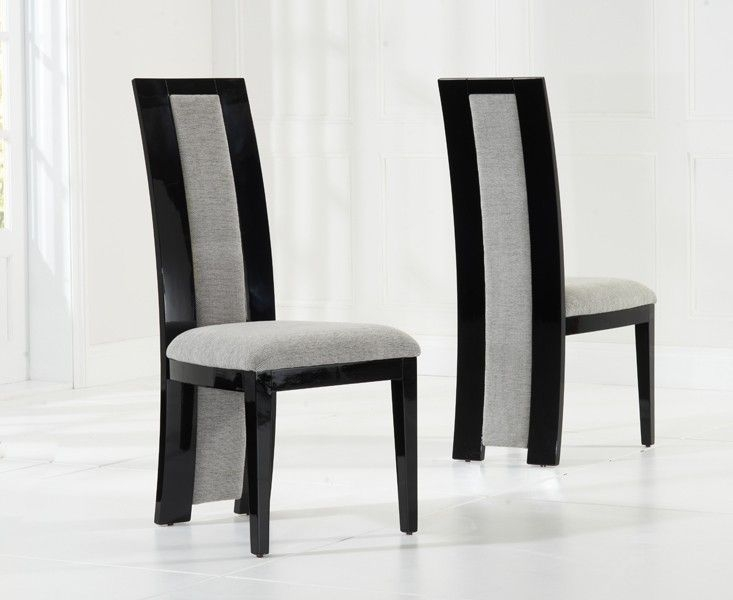 Mark Harris Como Black Engineered Marble Large Dining Table and 4 Rivilino Chairs