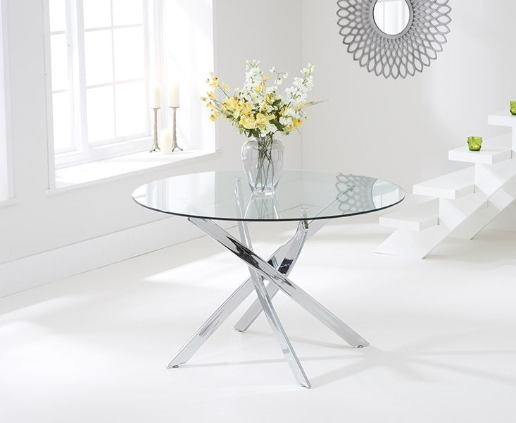 Glass Round Dining Table For 6 buy mark harris daytona 120cm glass round dining set with 6