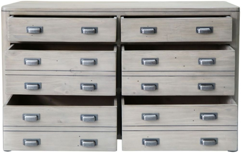 Tempest Reclaimed Pine 6 Drawer Wide Chest