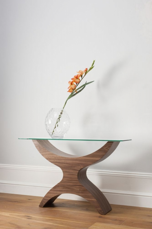 Tom Schneider Atlas Glass Top Console Table
