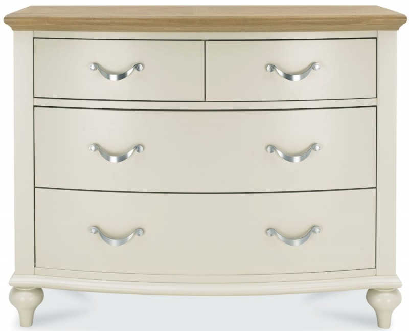 Bentley Designs Montreux Pale Oak and Antique White 2+2 Drawer Chest