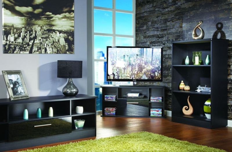 Buy Welcome Living Room Furniture High Gloss Black TV Unit - Open