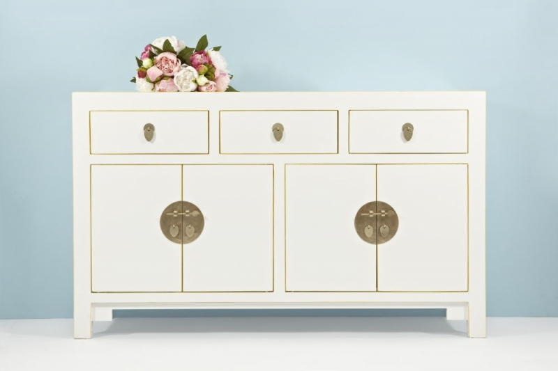 Baumhaus The Nine Schools Qing Chinese White Wide Sideboard