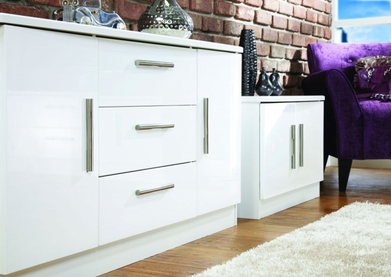 Buy welcome living room furniture high gloss white 2 door - High gloss living room furniture uk ...