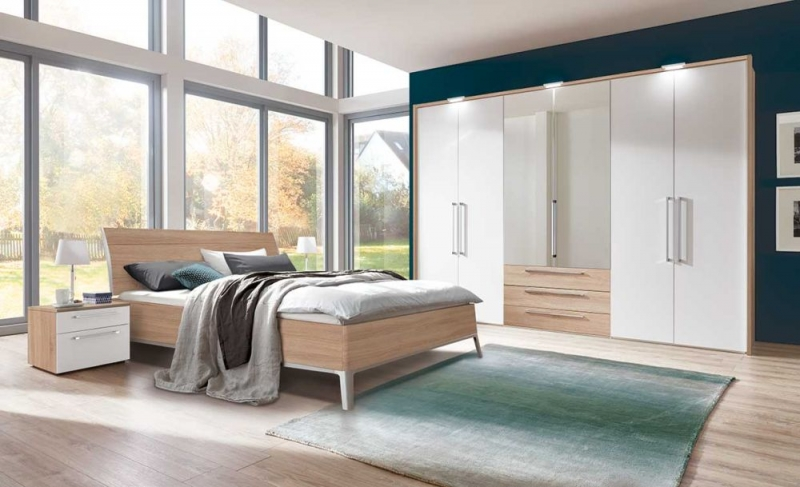 buy nolte horizont 8000 single door hinged wardrobe with high gloss front online cfs uk. Black Bedroom Furniture Sets. Home Design Ideas
