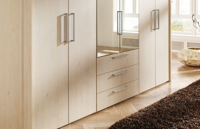 buy nolte horizont 8000 single and double door hinged wardrobe with wooden front online cfs uk. Black Bedroom Furniture Sets. Home Design Ideas