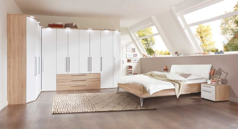 buy nolte horizont 8000 hinged door corner wardrobe with high gloss front online cfs uk. Black Bedroom Furniture Sets. Home Design Ideas