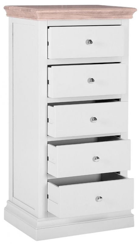 Rosa Painted 5 Drawer Tall Chest
