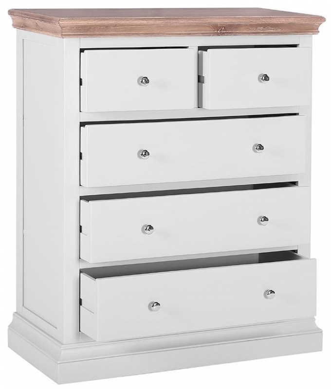 Rosa Painted 3+2 Drawer Chest