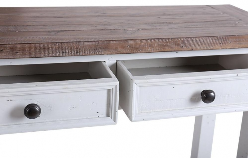 Hamptons Painted 2 Drawer Console Table