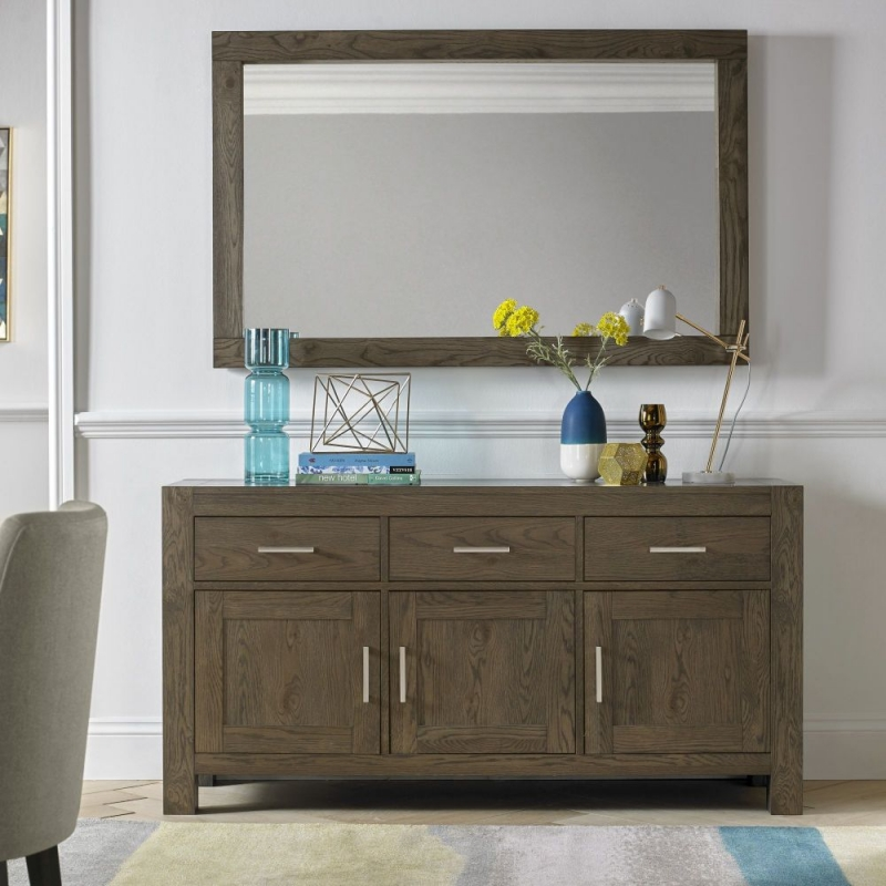 buy bentley designs turin dark oak sideboard large wide 3 door online cfs uk. Black Bedroom Furniture Sets. Home Design Ideas