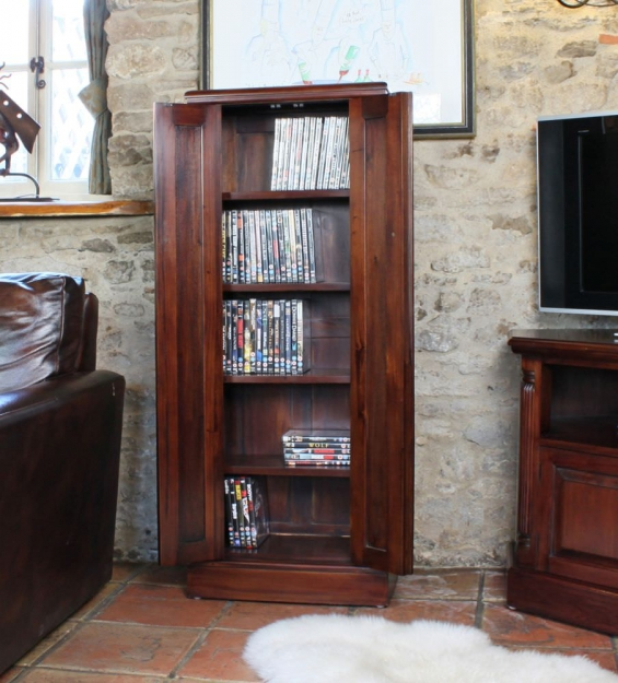Baumhaus La Roque Mahogany CD and DVD Cupboard