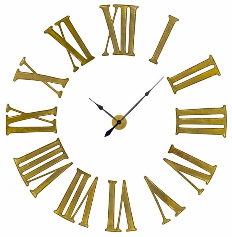 Antiqued Gold Battersea Numeral Clock