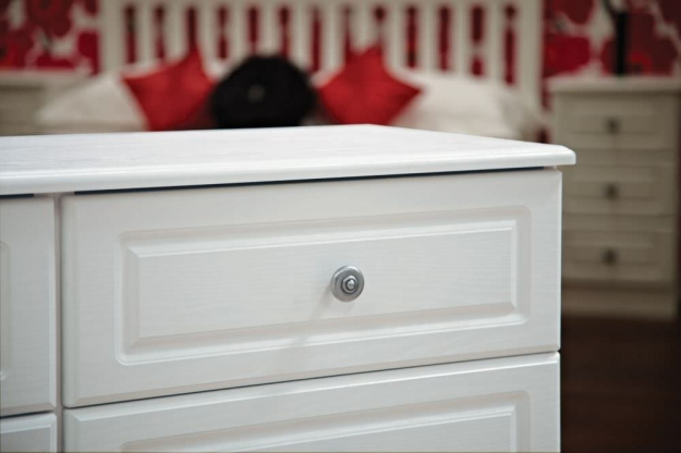 Pembroke White Chest of Drawer - 4 Drawer Deep