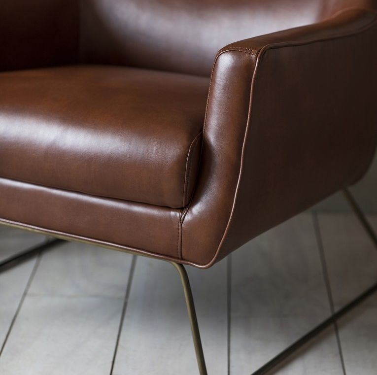 Gallery Direct Camberley Lounge Chair - Matt Saddle