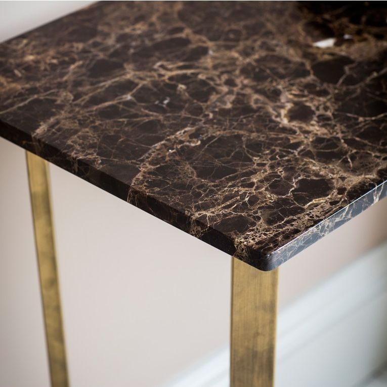 Hudson Living Emperor Console Table - Marble