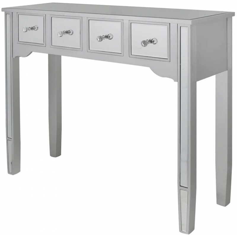 Siena Silver Mirrored Console Table