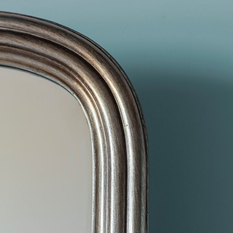 Gallery Direct Beck Arch Cheval Mirror - Brushed Brass 42cm x 160cm