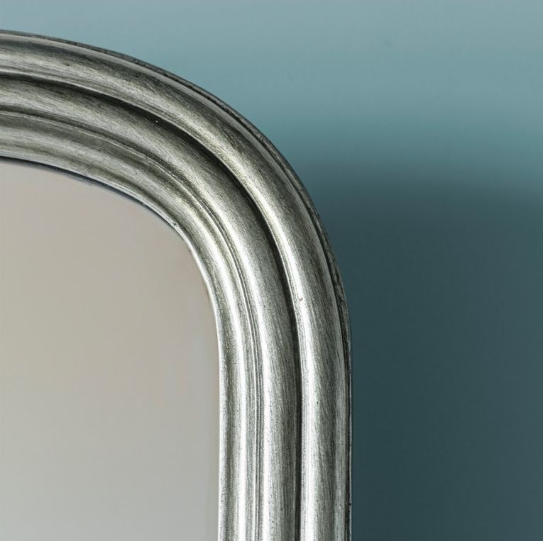 Gallery Direct Beck Arch Cheval Mirror - Silver 42cm x 160cm