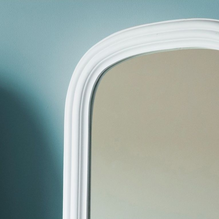 Gallery Direct Beck Arch Cheval Mirror - White 42cm x 160cm