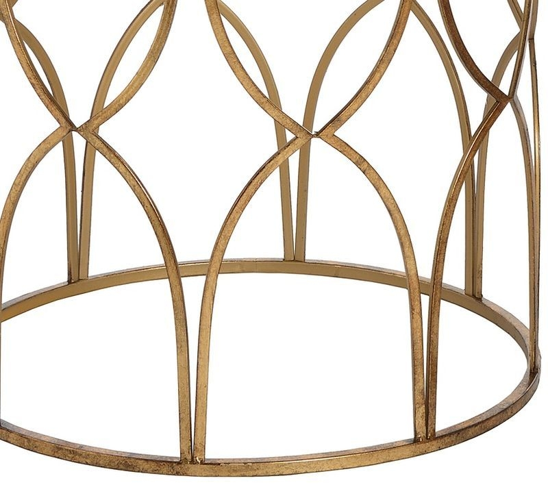 Hill Interiors Gold Detail Lattice Side Table (Set of 2)
