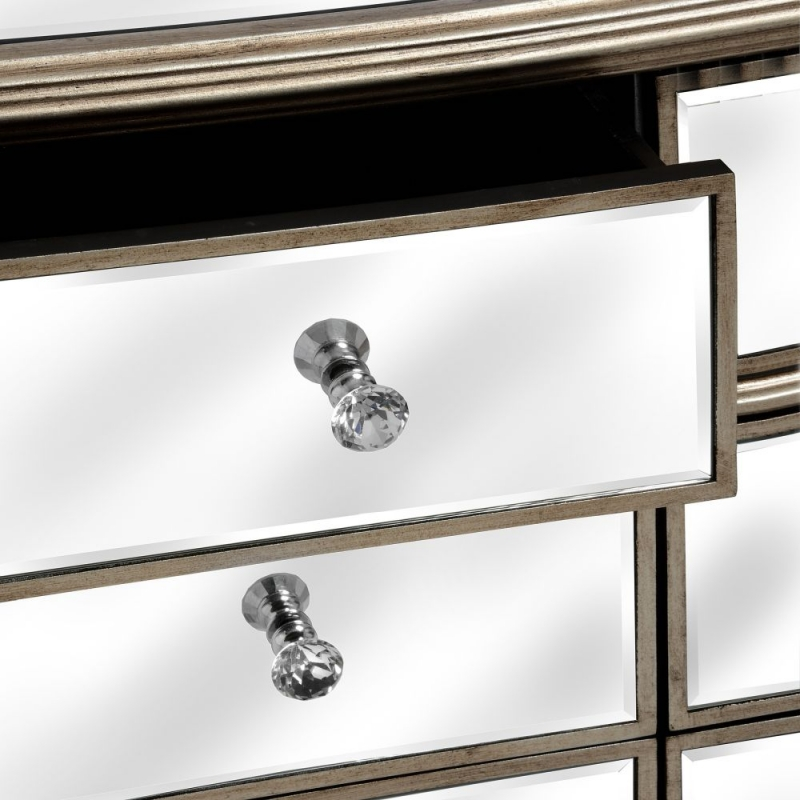 Hill Interiors Belfry Mirrored 6 Drawer Large Chest