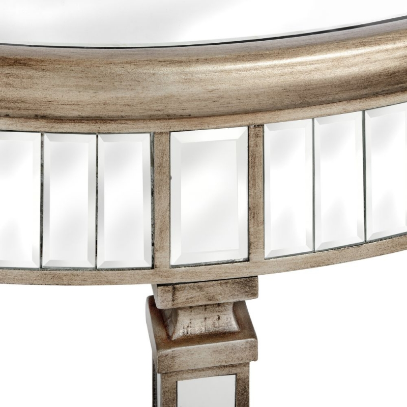 Hill Interiors Belfry Mirrored Half Moon Table