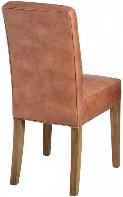 Hill Interiors Tan Faux Leather Dining Chair (Pair)