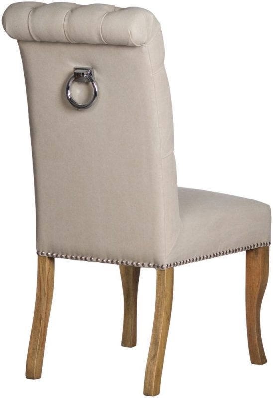 Hill Interiors Roll Top Dining Chair with Ring Pull (Pair)