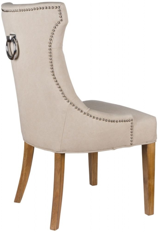 Hill Interiors High Wing Dining Chair with Ring Pull (Pair)