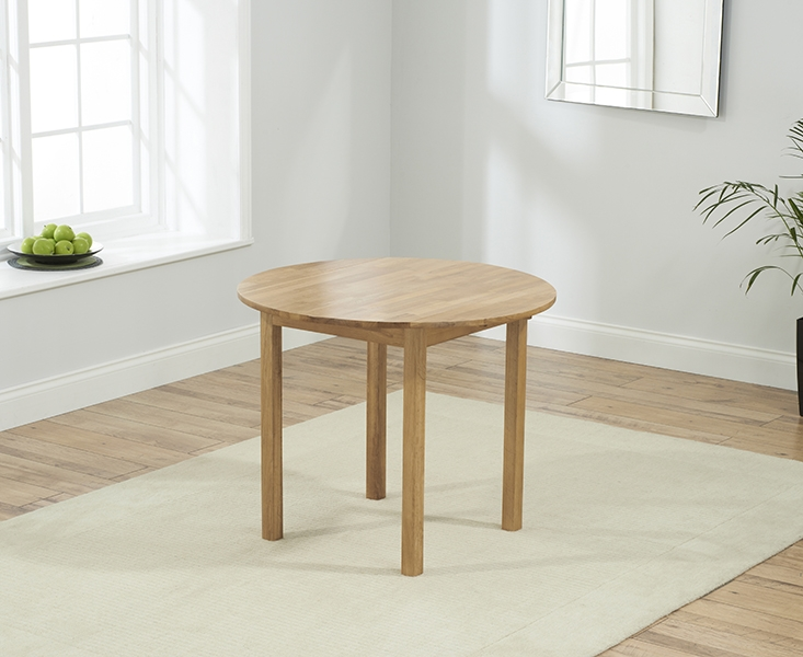 Buy Mark Harris Promo Solid Oak Drop Leaf Round Extending Dining
