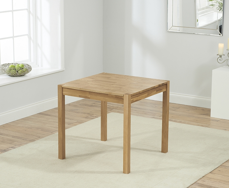 Mark Harris Promo Oak Square Dining Table and 2 Maiya Grey Chairs