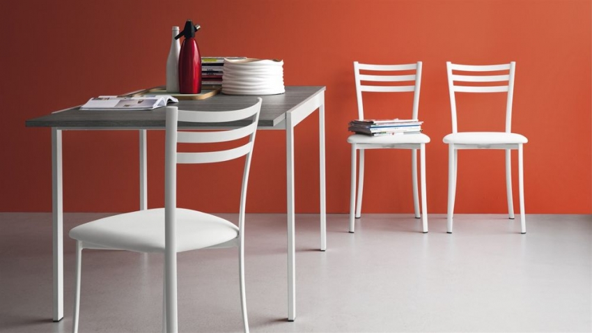 Connubia Ace Metal with Interchangeable Seat Dining Chair (Pair)