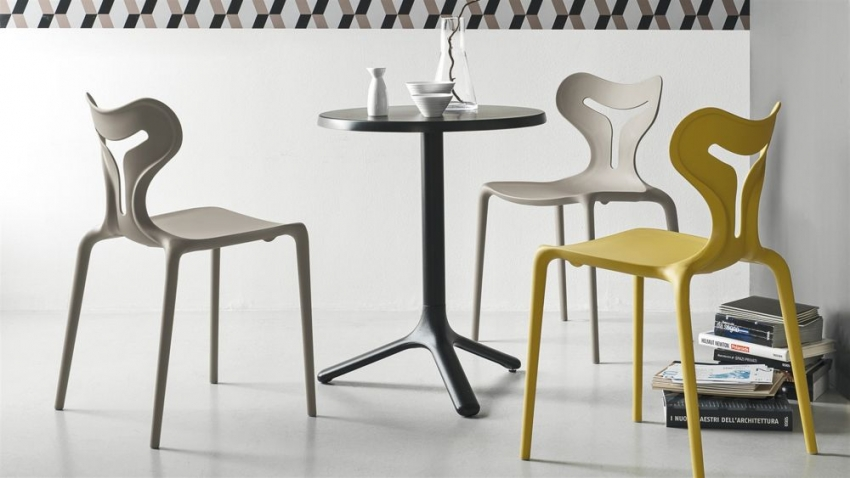 Connubia Area51 Polypropylene Stackable Dining Chair (Set of 4)