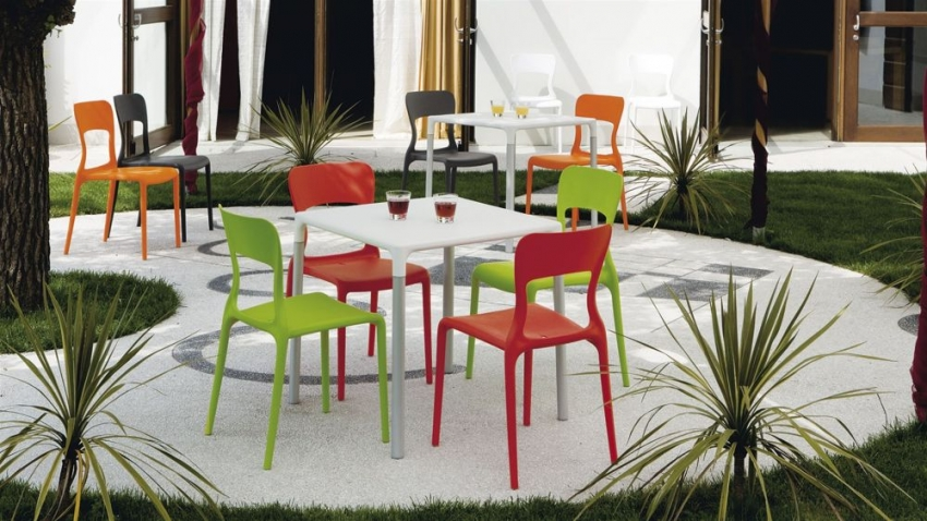 Connubia Helios Plastic Dining Chair (Set of 4)