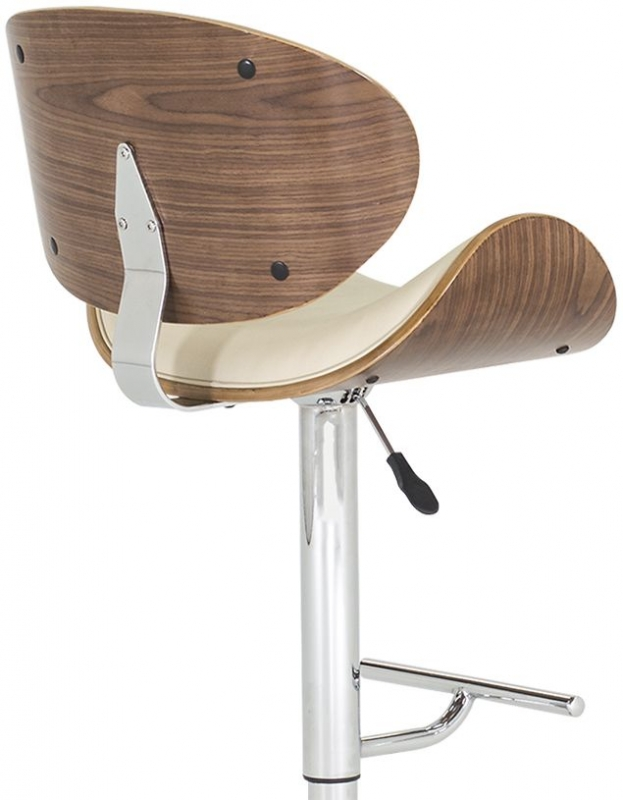 Vida Living Rocco Cream Faux Leather Bar Stool