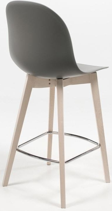 Connubia Academy W Wood and Plastic Bar Stool with Footrest CB1672