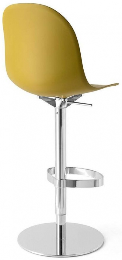 Connubia Academy Metal and Plastic Swivel High Bar Stool with Footrest CB1676
