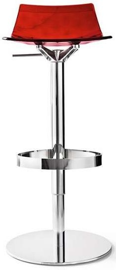 Connubia Ice Metal and Technopolymer Swivel Bar Stool with Footrest CB1039