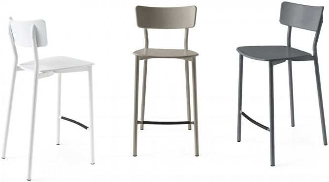 Connubia Jelly Metal Bar Stool with Footrest (Pair)