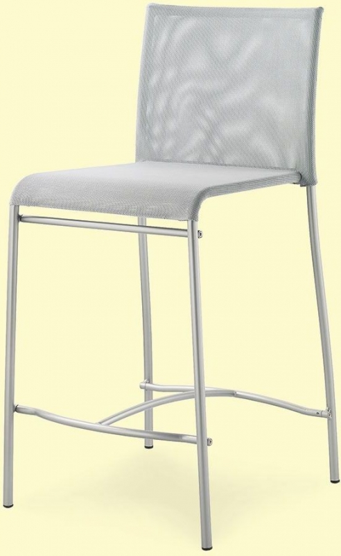 Connubia Jenny Metal and Fabric Bar Stool with Footrest (Pair)