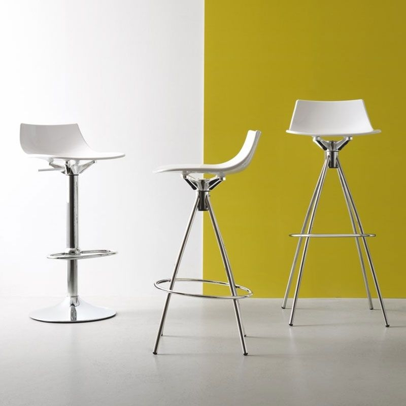 Connubia Led Metal and Technopolymer High Bar Stool with Footrest