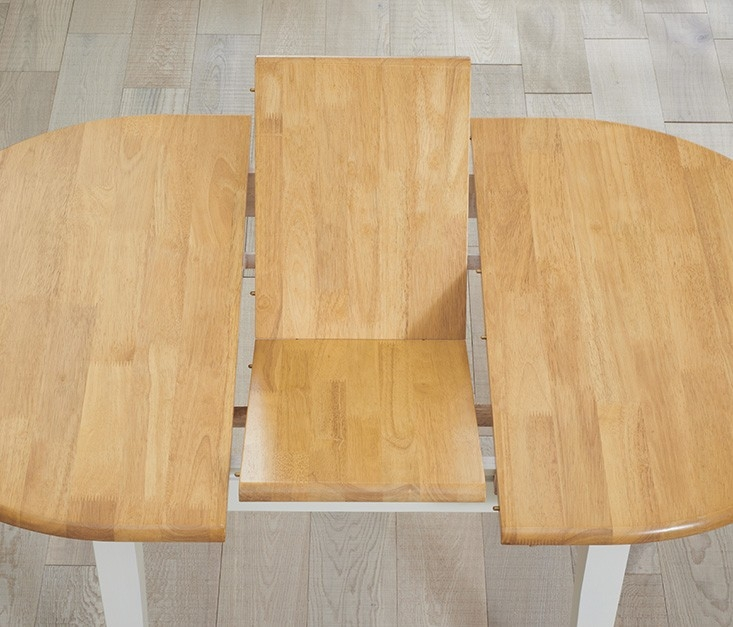 Mark Harris Alaska Butterfly Extending Dining Table and 2 Chairs - Oak and Cream