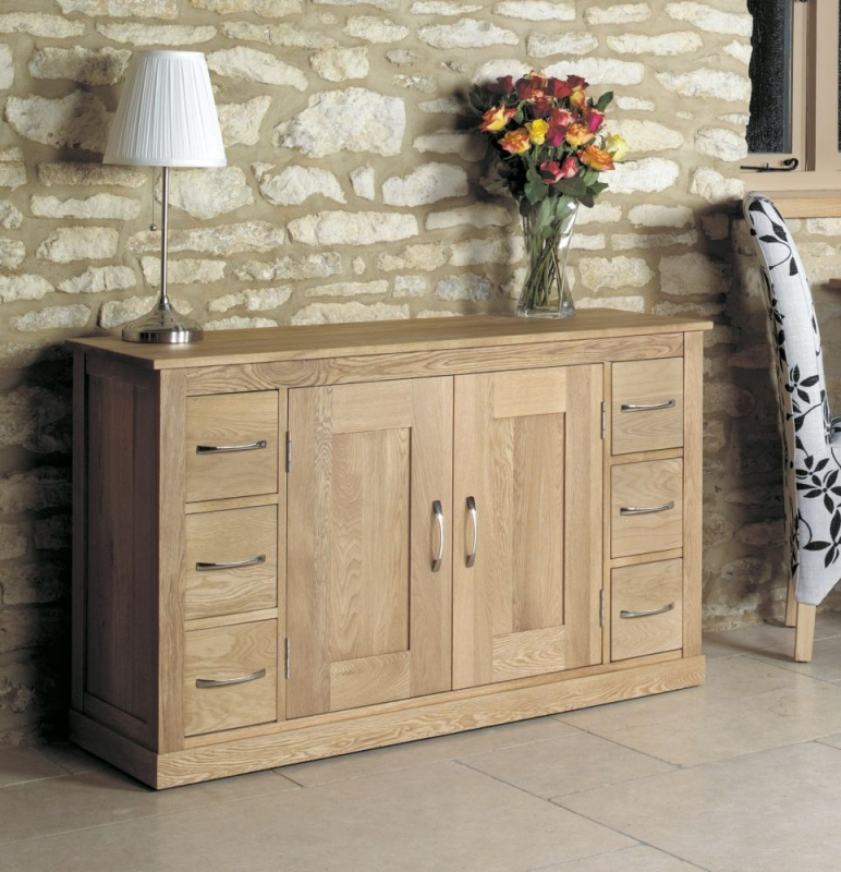 Baumhaus Mobel Oak 6 Drawer Sideboard