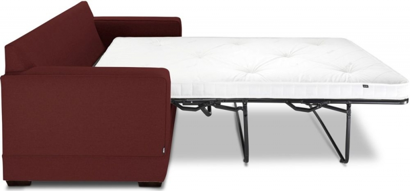 Jay-Be Modern Pocket Sprung Sofa Bed - Berry Fabric
