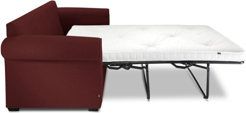 Jay-Be Classic Pocket Sprung Sofa Bed - Berry Fabric
