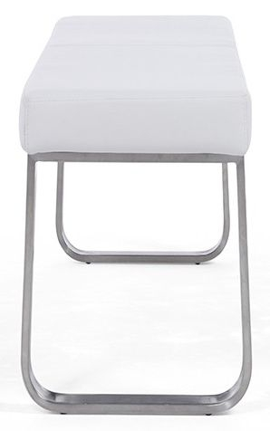 Mark Harris Ava White High Gloss Medium Bench