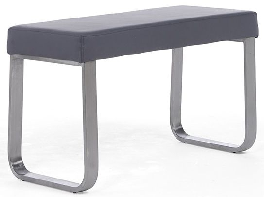 Mark Harris Ava Grey Faux Leather Small Bench