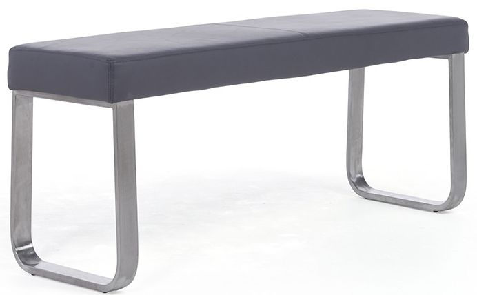 Mark Harris Ava Grey Faux Leather Medium Bench